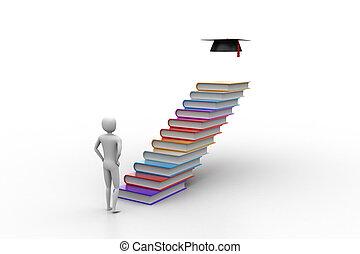 libri, laureato, 3d