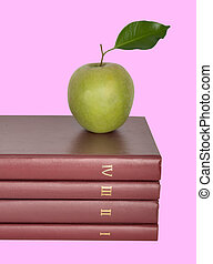 libri, mela verde