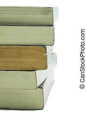 libri, nuovo, libro, vecchio, pila