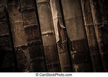 libri, vendemmia, fila