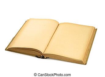 libro, #3, vecchio, vuoto, aperto, bianco