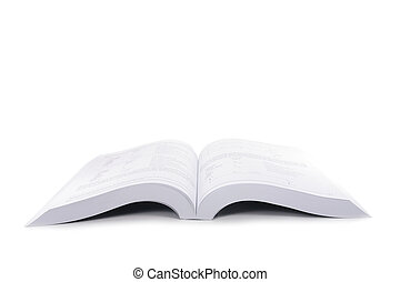 libro, aperto, isolato