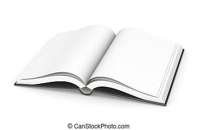 libro, aperto, sparse.