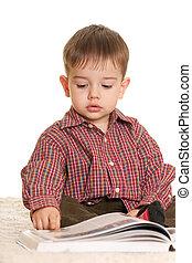 libro, aprendiz, joven