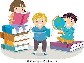libro, bambini