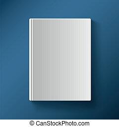 libro blanco, cubierta, vector, ilustración, gradiente,...