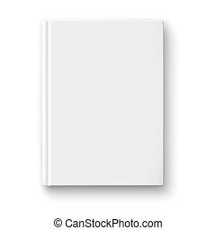 libro blanco, plantilla, con, suave, shadows.
