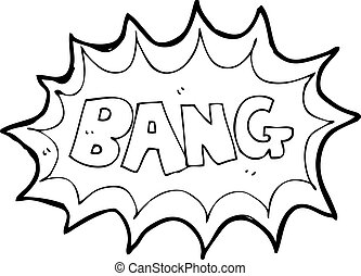 libro cómico, explosión, caricatura