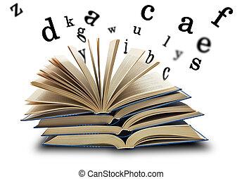 libro, cartas