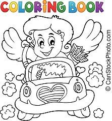libro colorante, cupido, 4