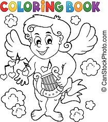libro colorante, cupido, 7
