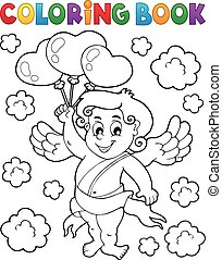 libro colorante, cupido
