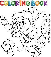 libro colorante, cupido