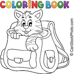 libro colorante, gatto