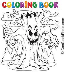 libro colorear, halloween, carácter, 7