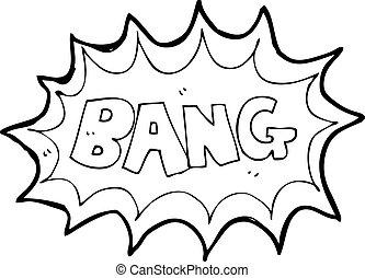 libro comic, esplosione, cartone animato