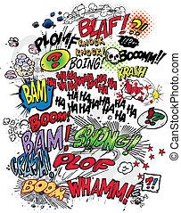 libro comic, parole