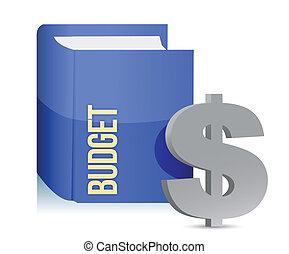 libro, con, uno, etichetta, con, text:, budget