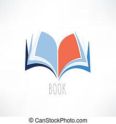 libro, conocimiento, icono