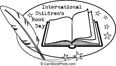libro, día, niños