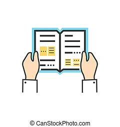 libro de lectura, enciclopedia