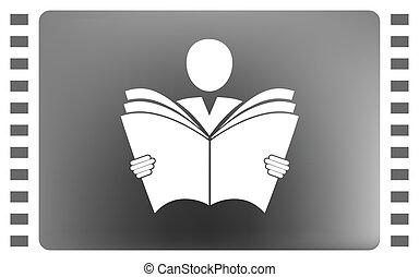 libro de lectura, icono