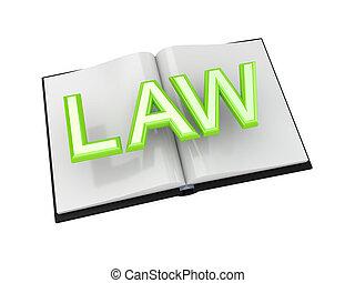 libro, de, ley, concept.