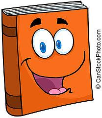 libro de texto, caricatura, mascota, carácter