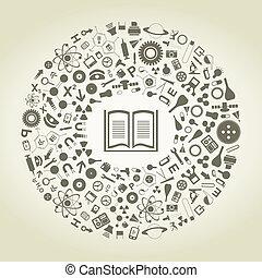 libro, di, scienze
