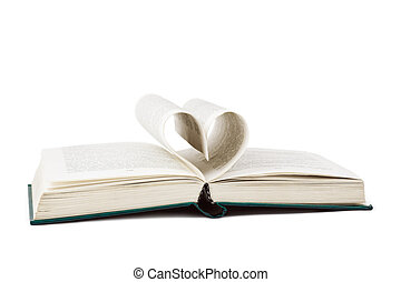 libro, e, cuore ha modellato, pagine
