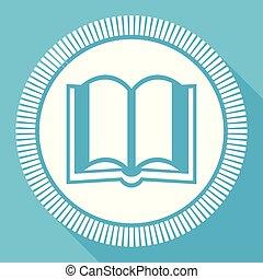 libro, editable, appartamento, vettore, icona, quadrato, web, bottone, blu, computer, e, smartphone, domanda, segno, in, eps, 10