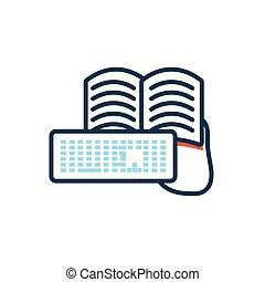 libro, educación, teclado electrónico