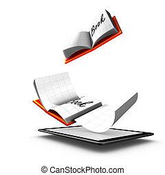 libro, electrónico, publicación, forma, digital