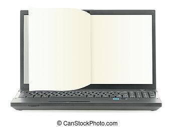 libro, electrónico, vacío