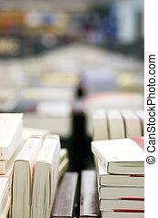 libro, en, biblioteca