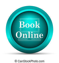 libro, en línea, icono