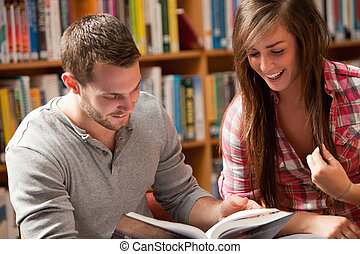 libro, estudiantes, lectura