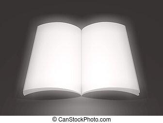 libro grande, soñador