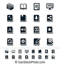 libro, iconos