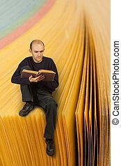 libro lettura, uomo
