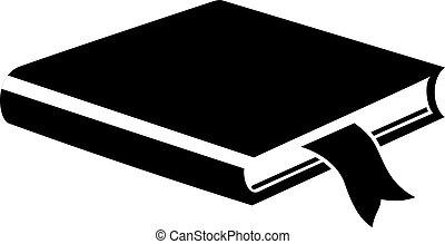 libro nota, icono