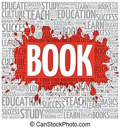 libro, palabra, nube, educación, concepto