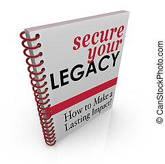 libro, proteger, seguro, consejo, su, cómo, legado, finanzas...