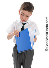 libro scuola, blu, ragazzo