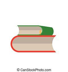 libro, set, vettore, bianco, fondo