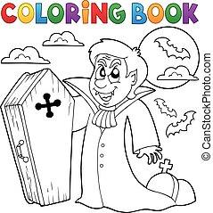 libro, tema, colorido, 4, vampiro