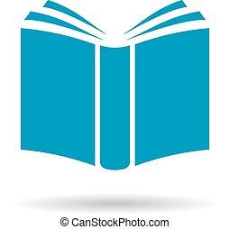 libro, vector, icono
