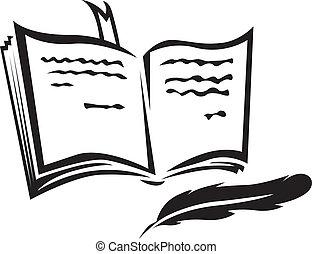 libro, y, pluma