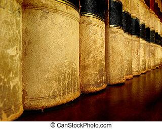 libros de ley, en, estante