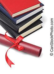 libros de texto, y, rúbrica, contenedor